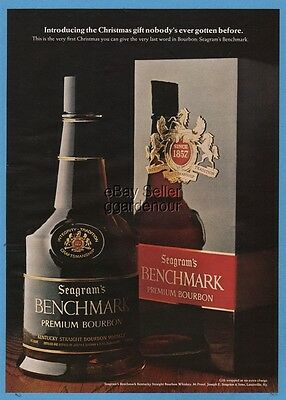 1968 Seagram's Benchmark Kentucky Bourbon Whiskey CHRISTMAS magazine print ad