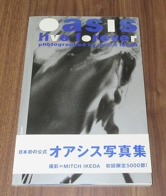 OASIS Japan ONLY limited PHOTO BOOK w/OBI Noel Gallagher MITCH IKEDA * damaged *