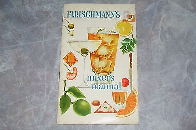 Fleischmann's Mixer's Manual Cocktails Alcoholic Beverage Recipe Booklet, Porter