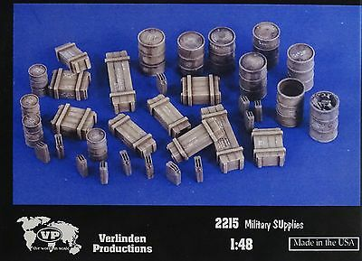 VERLINDEN PRODUCTIONS #2215 Military Supplies für Diorama in 1:48