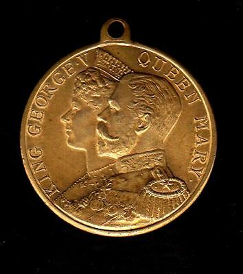 """""""KING GEORGE V QUEEN MARY"""" CORONATION COMMEMORATIVE MEDAL 1911,32MM,18g"""