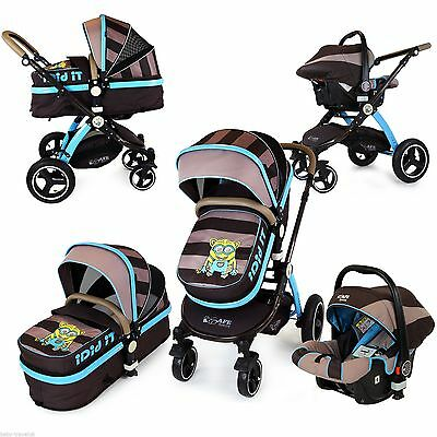 i-Safe System - i DiD iT Pram & Luxury Stroller 3 in 1 Complete With Carseat