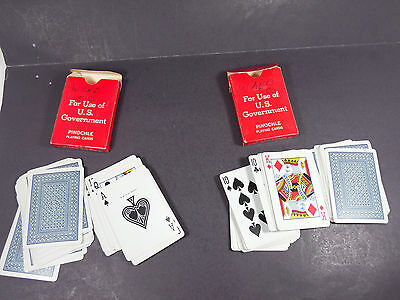 Vintage Lot United States Playing Card Co. American Red Cross Pinochle Decks