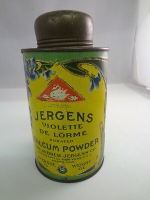 Vintage Advertising  Jergens Talcum Powder Talc  Collectible  S-1042