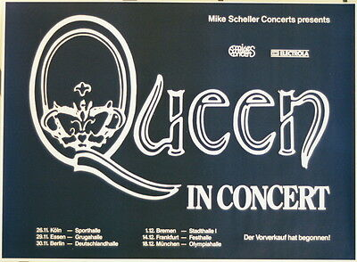 Queen Concert Tour Poster 1980 The Game