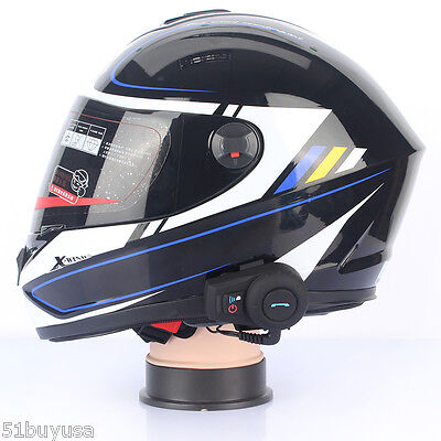 Headset Casco De Moto Auricular Bluetooth Motocicleta Intercomunicador 800M ES