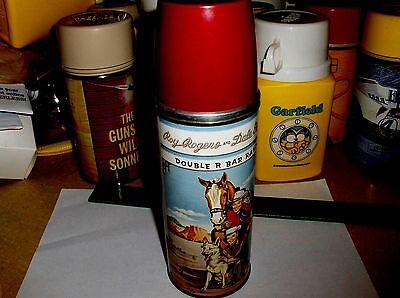 Roy Rogers & Dale Evans-Double R Bar`1953,Metal Lunchbox-Narrow Thermos,Free 2US