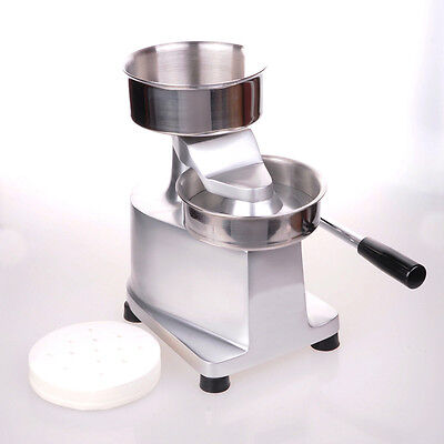 WOO 130mm Commercial Manual Hamburger Patty Burger Press Patties Maker Machine