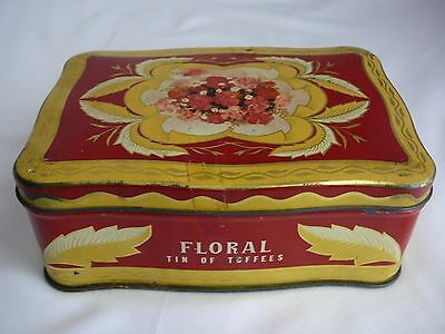 """Vintage MacRobertson """"Floral"""" Toffee tin collectable advertising confectionery"""