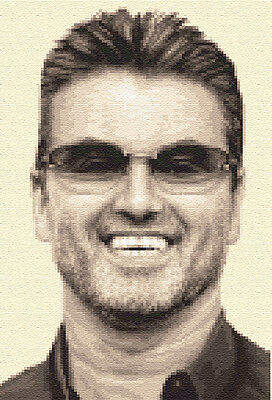 GEORGE MICHAEL - complete counted cross stitch kit + all materials needed