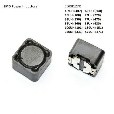 4.7/6.8/10/22/33/47/56/68-560 UH CDRH127R 12*12*7MM Shield SMD Power Inductors