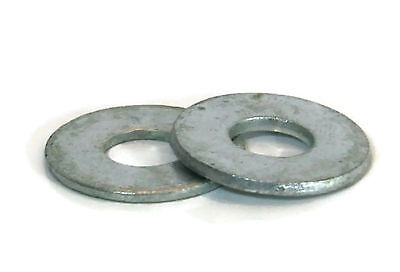 "Flat Washers Hot Dipped Galvanized USS - 3/8"" (ID 7/16"", OD 1"") - Qty-100"