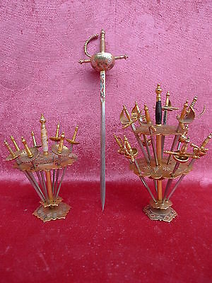 2 beautiful, antique Picks stand (Punch pieker,Fruit pick)_+ gr.Pieker_Toledo__