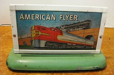 American Flyer Post-War No.566 Lighted Whistling Billboard - Works