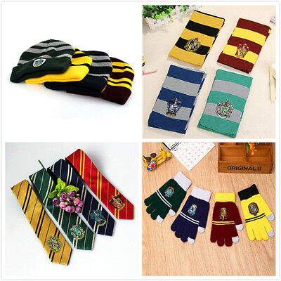 Cosplay Costumes Harry Potter Characters Costume Scarves Hat Gloves Gryffindor