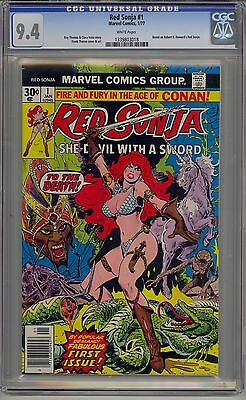 Red Sonja #1 Cgc 9.4 White Pages Marvel