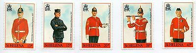 St Helena (152) 1991 Military Uniforms of 1897 set Sg586-590 Lightly Mounted