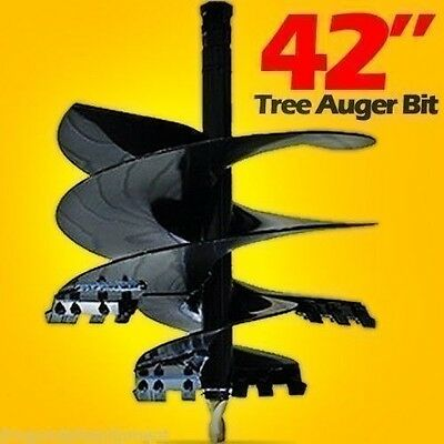 "42"" Tree Auger Bit for Skid Steer Loaders,2 9/16"" Round Drive,Fits Cat,Bobcat"