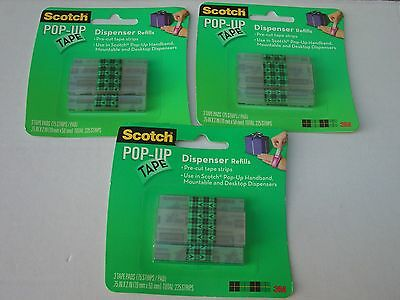 3 Packs of Scotch Pop Up Tape New & Sealed 9 Tape Pads in Total