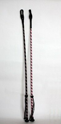 RIDING CROP 70cm WOVEN THREAD COVERING