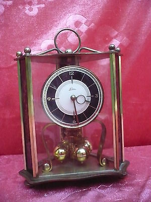 Beautiful, ANTIQUE FIREPLACE CLOCK __ Dome Clock - Rolling Ball Clock __ KERN