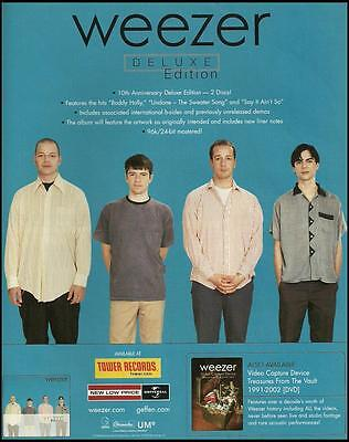 Weezer 10th Anniversary Deluxe Edition ad 8 x 11 advertisement print