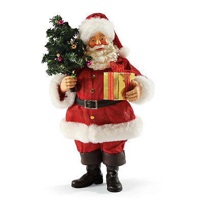 Possible Dreams Greeting From Santa Holding Christmas Tree Figurine 4038733