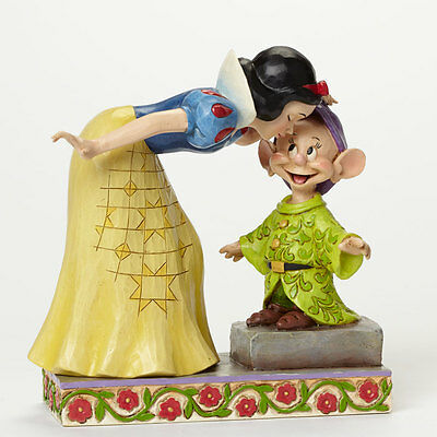 Jim Shore Disney Sweetest Farewell Snow White Kissing Dopey Figurine 4043650 New