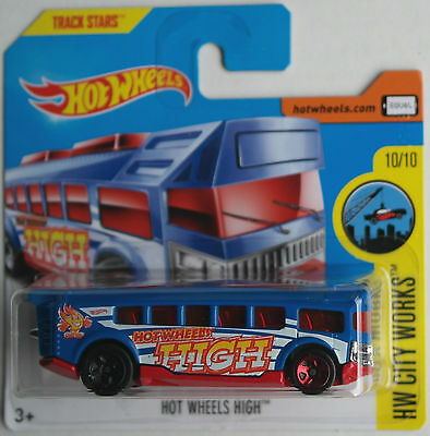 Hot Wheels - Schulbus / School Bus Hot Wheels High blau/rot Neu/OVP