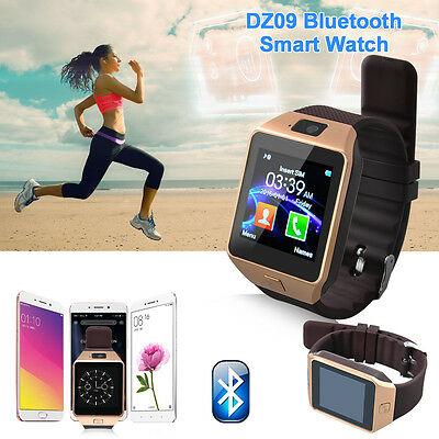 DZ09 Touch Screen Bluetooth Smart Watch Phone Mate For Android IOS iPhone SIM AU