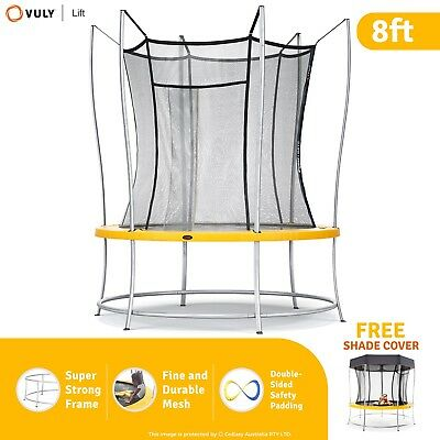 Vuly Lift Trampoline Includes Free Trampoline Shade Cover Small