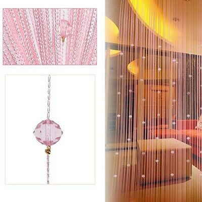 Luxury String Curtain Crystal Beads Tassel Panel Divider Hangings Home Decor 1PC