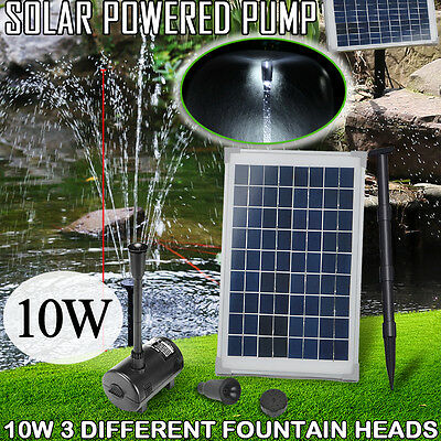 New 10w Solar Power Outdoor Fountain Garden Pond Pool Submersible Water Pump Kit