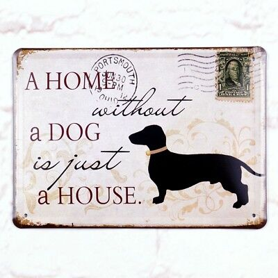 Metal Tin Sign Home Without Dog Just house Retro Home Pub Bar Wall Decor Poster