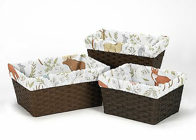 Animal Toile Organizer Storage Kid Basket Liners Fit Small Medium Large Bin