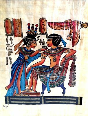 Egyptian Art Papyrus Paper Royal Tombs Temples Pharaohs Made in Egypt EA32