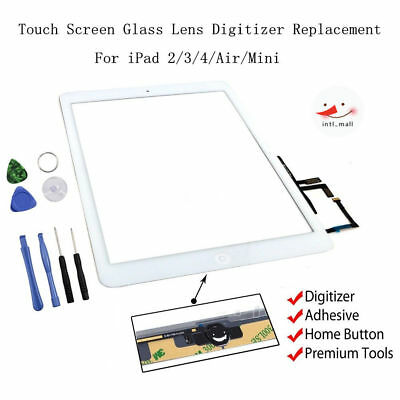 Touch Screen Digitizer Replacement For Apple iPad 2/3/4/Air/mini/Pro Black/White