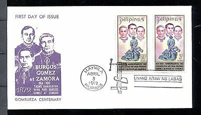 Philippines FDC Cover Martyrs Apr. 3, 1972,  x17897