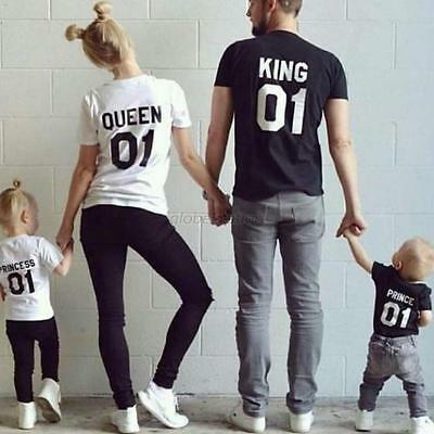 Family Couple Shirt King Queen Princess Prince 01 Love Matching Tee Short Sleeve