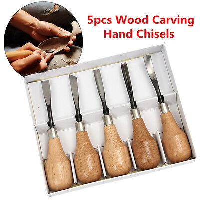 5pcs Set Hand Wood Carving Chisels Set DIY Tools For Lathe Woodcut Working
