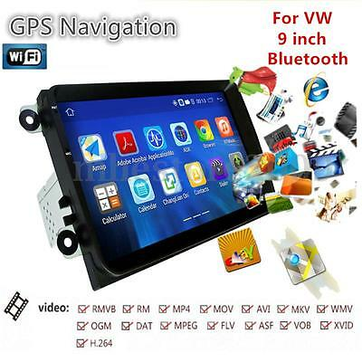 "9"" Double 2DIN Android GPS Navigation Car Stereo FM Radio Bluetooth WIFI Player"