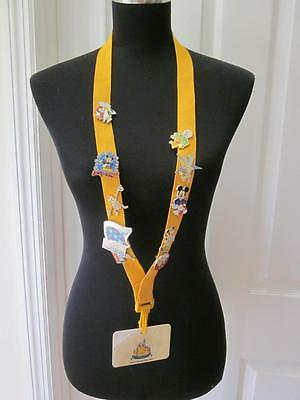 Disney Cast Member Exclusive Pin Trading Guidelines Lanyard & 10 Pins