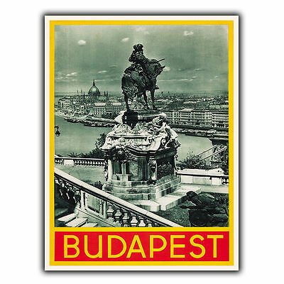 BUDAPEST HUNGARY Vintage Retro Travel Advert METAL WALL SIGN PLAQUE poster print