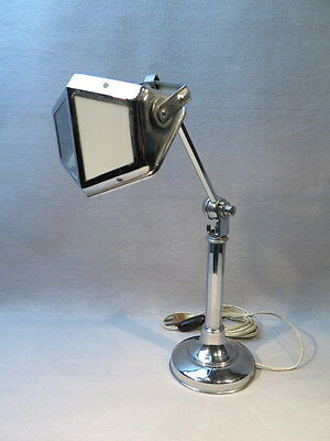 Ancienne Lampe De Bureau Reglable En Chrome 1930 Art Deco Modele Pirouette