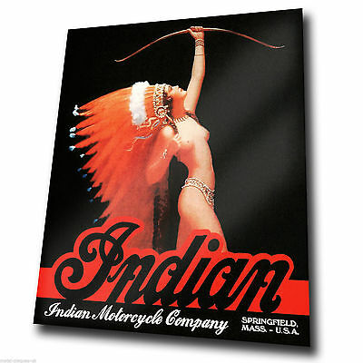 INDIAN Motorcycle Company 1960 Advert METAL SIGN WALL PLAQUE art print poster
