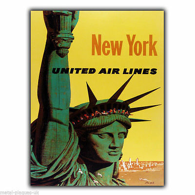 SIGN METAL PLAQUE NEW YORK LIBERTY Retro Vintage advert ad poster print
