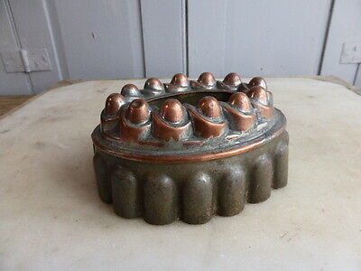 Antique Victorian copper and tin jelly pudding mould