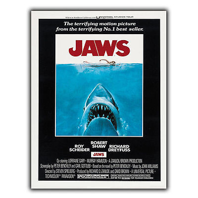 JAWS 1975 METAL SIGN WALL PLAQUE Retro Film Movie Advert poster print decor