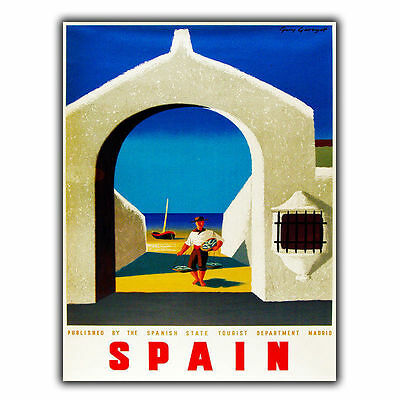 SPAIN METAL SIGN PLAQUE Vintage Retro Travel Holiday Advert poster print decor