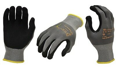 NEW G & F EndurancePro Seamless Knit Men's Black Nylon work Gloves (3-Pack): L